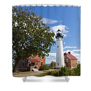 Au Sable Lighthouse 9 Shower Curtain