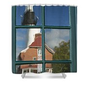 Au Sable Lighthouse Abstract 1 Shower Curtain