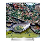 Aubergine In Olive Oil Shower Curtain