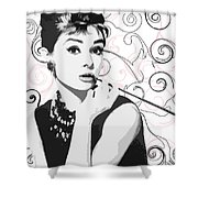 Audrey With A Twist Shower Curtain