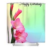 August Birthday Shower Curtain