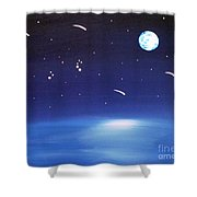 August Celestial Trinity Shower Curtain by Alys Caviness-Gober