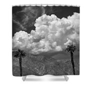 August Clouds Palm Springs Shower Curtain