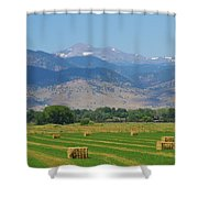 August Hay Boulder County Colorado Shower Curtain