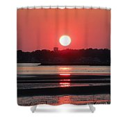 Aura Of A Sunset Shower Curtain by Meandering Photography