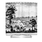 Australia: Gold Rush, 1851 Shower Curtain