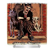 Australian Kelpie - A Dogs Life Movie Poster Shower Curtain