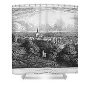 Austria: Baaden, 1822 Shower Curtain
