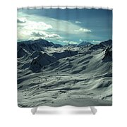 Austria Snow Mountain Shower Curtain