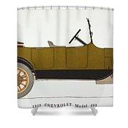 Auto: Chevrolet, 1919 Shower Curtain