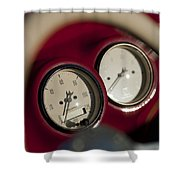Auto Meter Dashboard Guages Shower Curtain