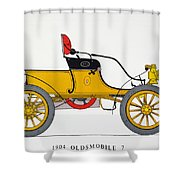 Auto: Oldsmobile, 1904 Shower Curtain