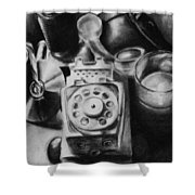 Autobiographical Still Life Shower Curtain