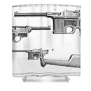 Automatic Pistols Shower Curtain
