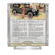 Automobile Ad, 1926 Shower Curtain