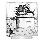 Automobile Cartoon, 1914 Shower Curtain