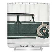 Automobile: Stutz, 1929 Shower Curtain