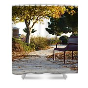 Autum At The Park Shower Curtain