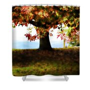 Autumn Acorn Tree Shower Curtain