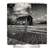 Autumn Barn Black And White Shower Curtain