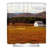Autumn Barn In Green Bank Wv Shower Curtain