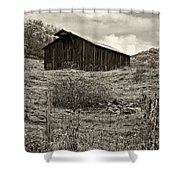 Autumn Barn Sepia Shower Curtain