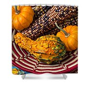 Autumn Basket  Shower Curtain by Garry Gay