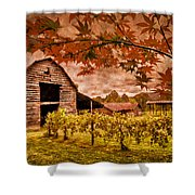 Autumn Cabernet Shower Curtain