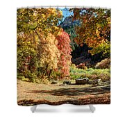 Autumn Campground In Blacksmith Fork Canyon - Utah Shower Curtain