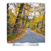 Autumn Canyon Colorado Road Shower Curtain
