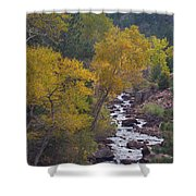 Autumn Canyon Colorado Scenic View Shower Curtain