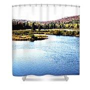 Adirondack Lake 38  Shower Curtain