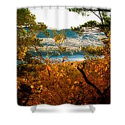 Bald Mountain View Shower Curtain