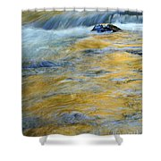 Autumn Colors Reflected In Stream Shower Curtain