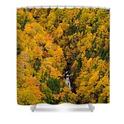 Autumn Colour And Waterfalls, Cape Shower Curtain by John Sylvester