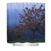 Autumn Colour At Dusk Shower Curtain