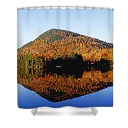 Autumn Colours Reflected In Water Shower Curtain