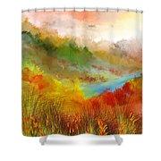 Autumn Daze Shower Curtain