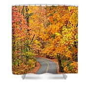 Autumn Drive Signal Mountain Shower Curtain