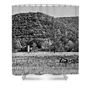 Autumn Farm Monochrome Shower Curtain