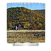 Autumn Farm Painted Shower Curtain