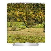 Autumn Farm Vista Shower Curtain