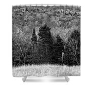 Autumn Field Bw Shower Curtain