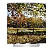 Autumn Field In Pennsylvania Shower Curtain