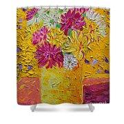 Autumn Flowers 4 Shower Curtain