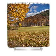 Autumn Foliage Scenery On Mohawk Trail Shower Curtain