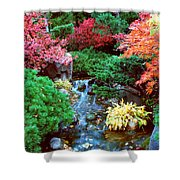 Autumn Garden Waterfall I Shower Curtain