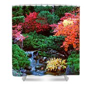 Autumn Garden Waterfall II Shower Curtain