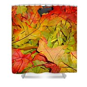 Autumn Gathering Shower Curtain