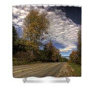 Autumn Highway Shower Curtain